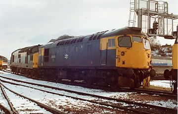 26042 at Inverness for driver training in March 1992. TZ