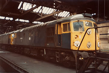 26013 inside Dundee shed on 01/05/83. Photo © Dave Newman
