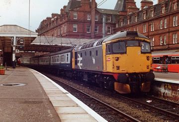 26035 on the 1Z94 Ayr to Carlisle at Ayr on 09/06/90. TZ